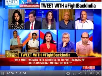 Times Now Debate on Jasleen