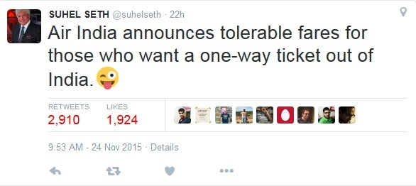 Suhel on tolerance